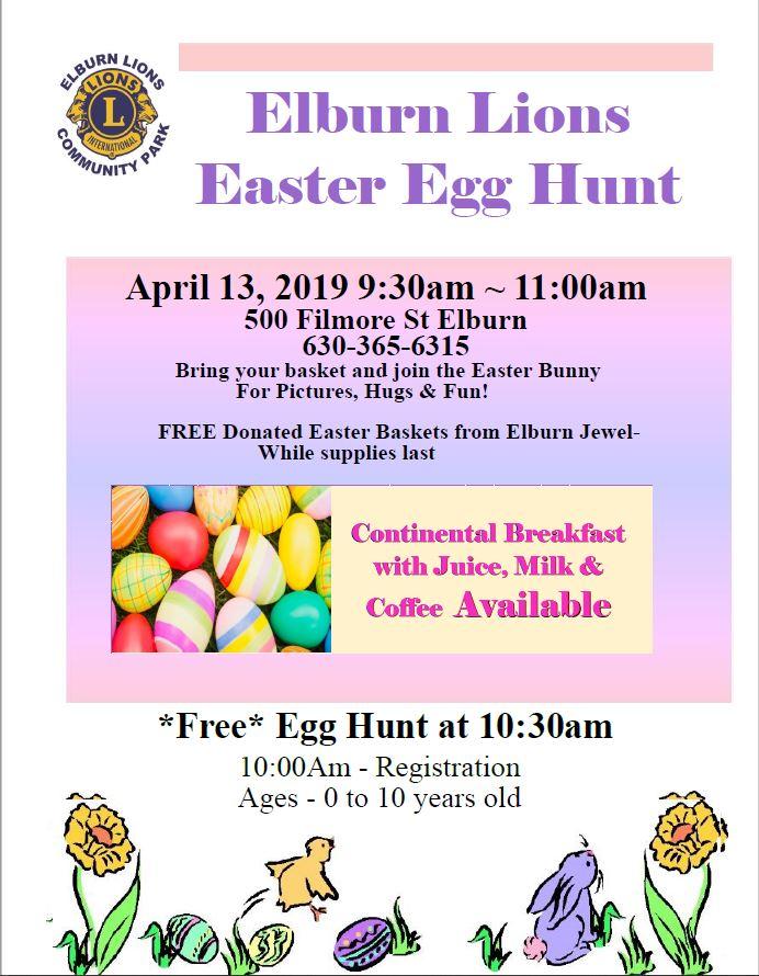 Easter Egg Hunt 2019 | Elburn Lions
