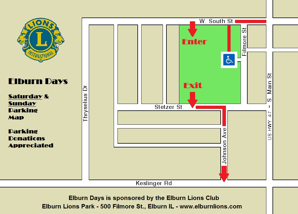Elburn Days Parking - Saturday and Sunday