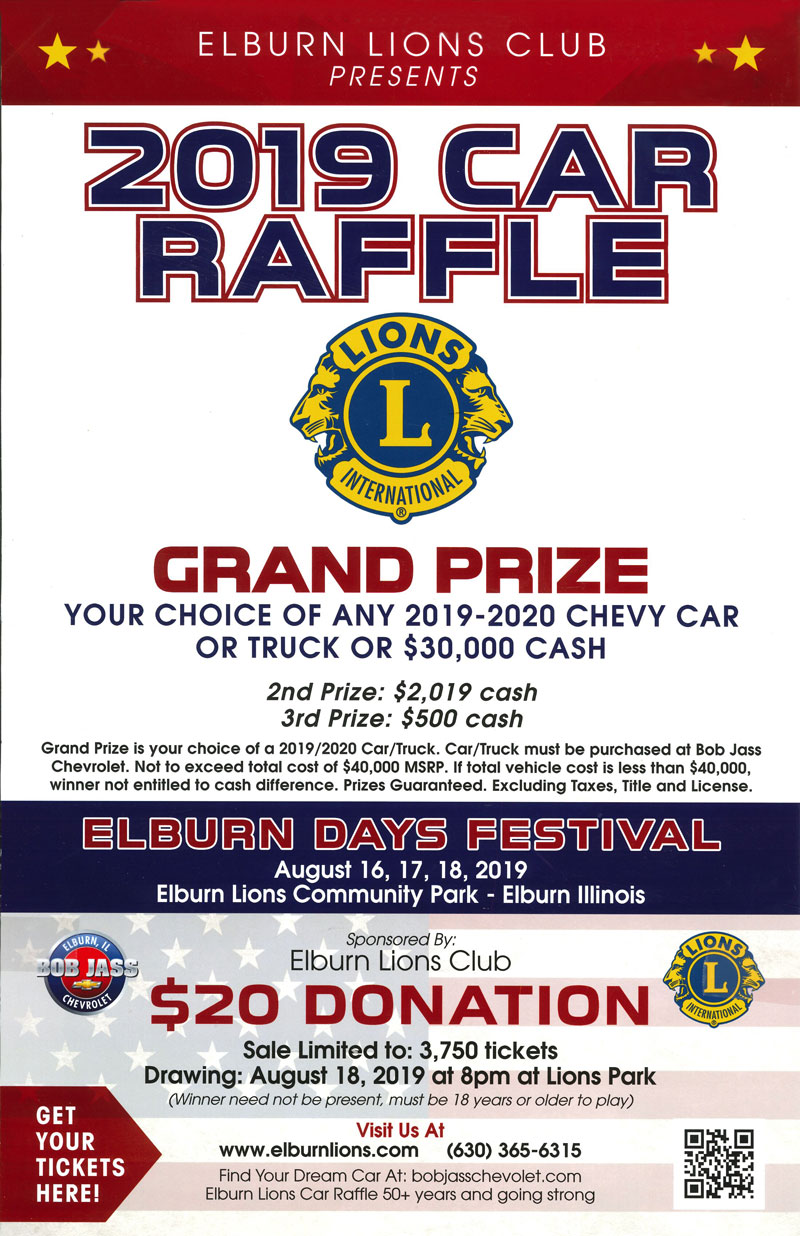 Car Raffle and 50/50 Drawing | Elburn Lions