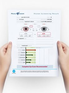 Spot Vision Screening Print out